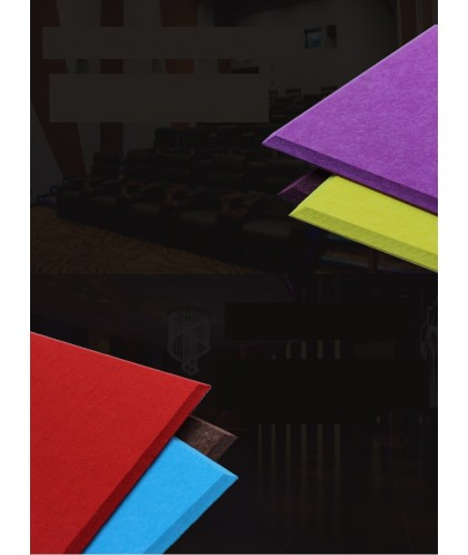 3CM厚 倒角高密度款 60CMX60CM 帶背膠隔音棉 複合 阻燃聚酯纖維吸音板