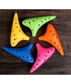12孔中音C調 樹脂塑膠 陶笛 彩色款 AC02