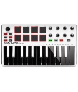 AKAI MPK Mini MK2 MIDI KEYBOARDS WHITE Special Edition 白色特別版