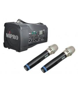 MIPRO MA-100DB 迷你無線喊話器 雙咪款 無線擴音器喇叭