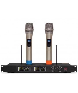 出口 PRO WIRELESS VOCAL MICROPHONE 雙手持無線咪套裝