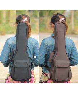 簡約純色款-雙肩加厚小吉他棉袋