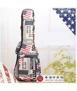 美國旗款-雙肩加厚小吉他袋
