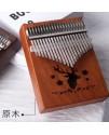 K21K 21音 馴鹿款 便携卡林巴 桃花芯木拇指琴 KALIMBA