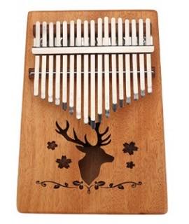 K17 17音 馴鹿款 便携卡林巴 桃花芯木拇指琴 KALIMBA