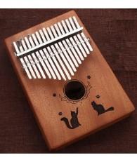 K17 17音 雙貓款 便携卡林巴 桃花芯木拇指琴 KALIMBA