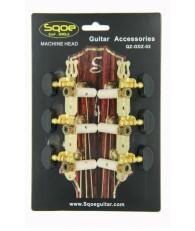 Sqoe QZ-GDZ-02 鍍金黑木紋 古典排準弦扭套裝 MACHINE HEAD