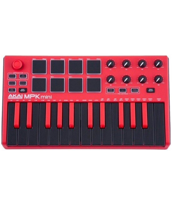 AKAI MPK Mini MK2 MIDI KEYBOARDS RED Special Edition 紅色特別版