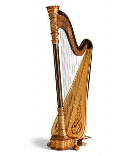 美國 Lyon & Healy Style 23 Bronze Walnut Concert Grand Pedal Harp 47弦豎琴